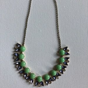 J.Crew Green Summer Necklace